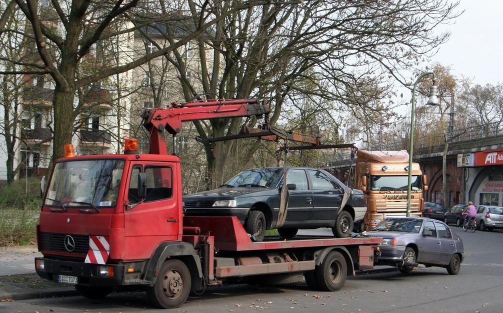 Towing unused vehicles